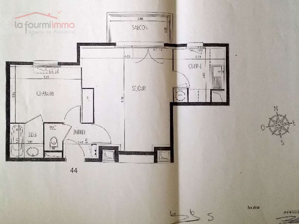Bondy Centre Ville - F2 - 45 m² - Plan f2