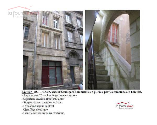 Appartement T2 40m² en plein centre de Bordeaux - Pr sentation1
