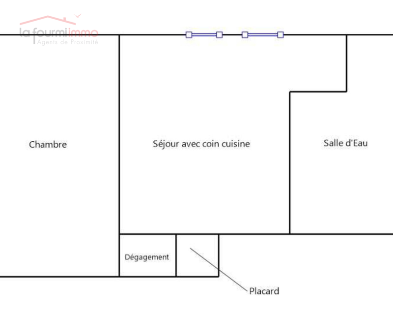 Carnetin - Appartement 36m² - Plan