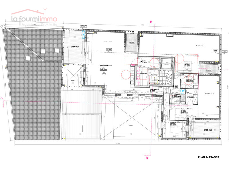 Appartement T4 Bordeaux - Plan t4 759 400 -01