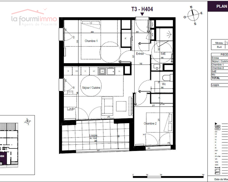 Appartement T3 Bordeaux - Plan t3 267 000