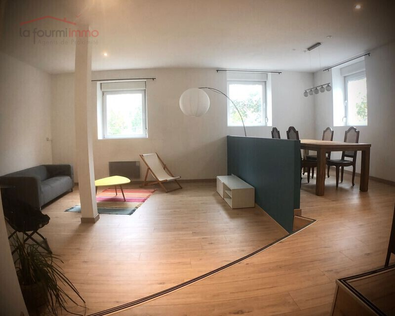 Appartement Atypique au bord du Quai Forst à Mulhouse - Salon