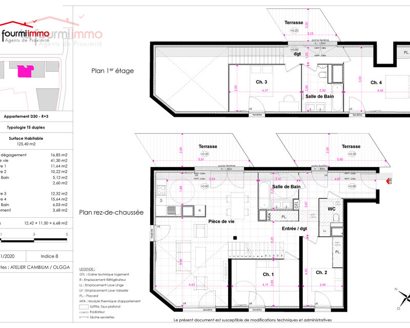 Appartement T5 DUP Bordeaux  - Plan-t5-dup-612000